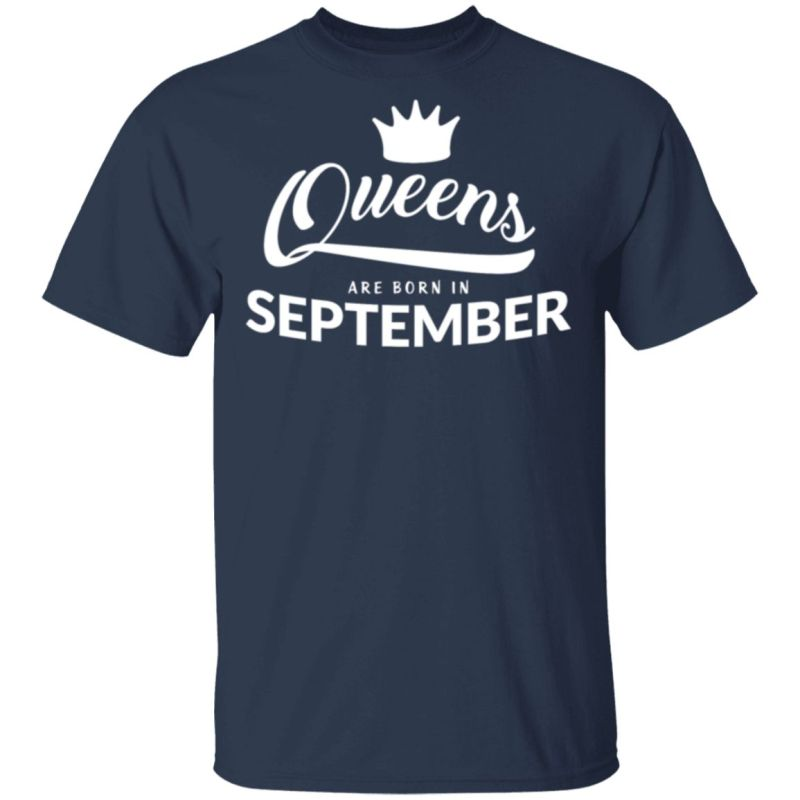 Womens This Queen Was Born In September Living My Best Life T Shirt