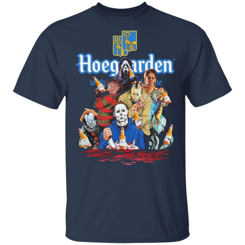 Hoegaarden drink Horror movie characters Halloween t shirt