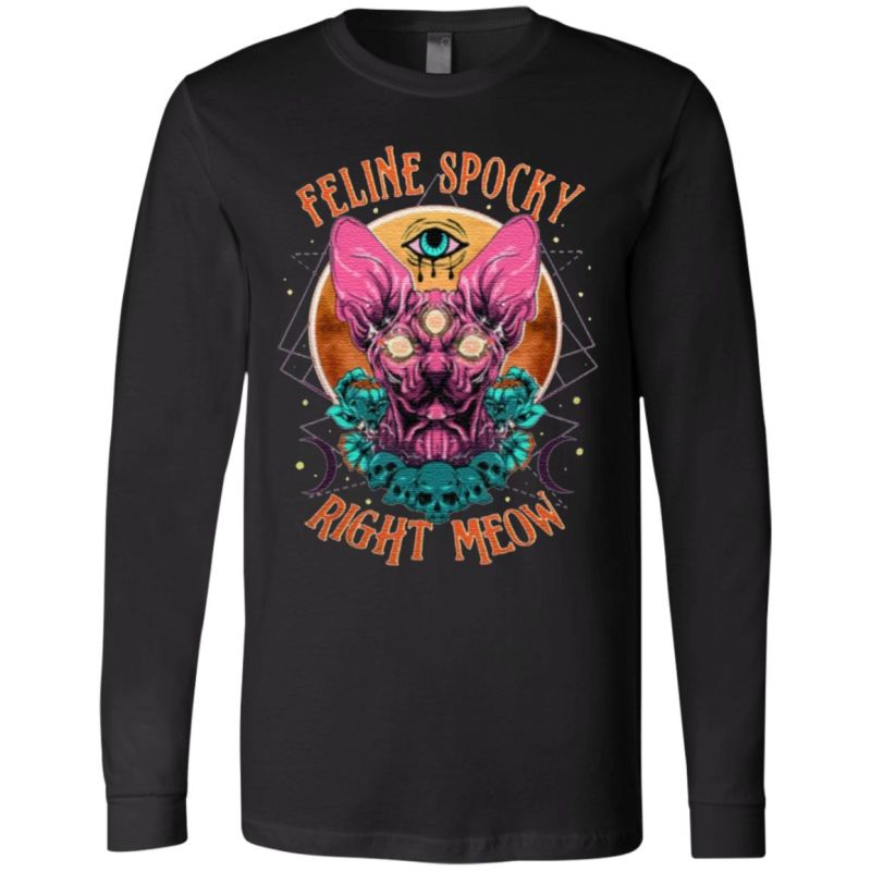 Feline Spooky Right Meow T Shirt
