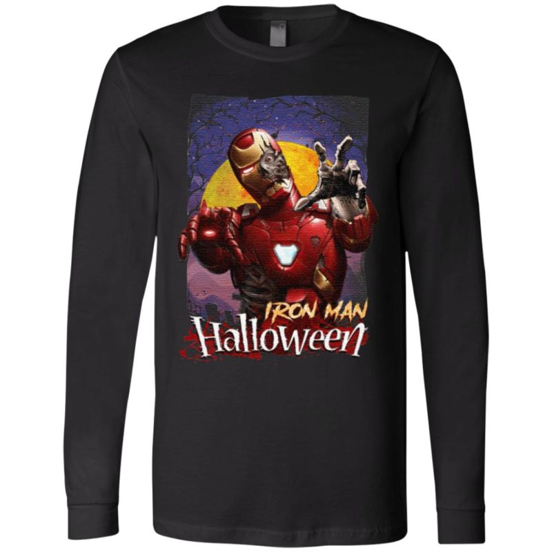 Marvel Horror Zombie Iron Man Halloween T-Shirt