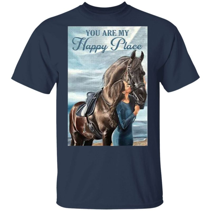 Horse You Are My Happy Place Vertical Poster Shirt