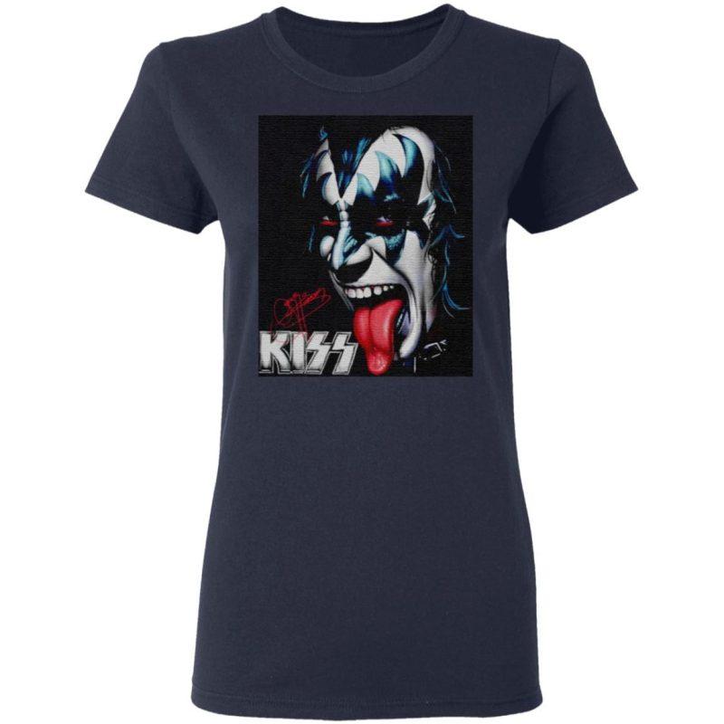 Gene The Demon Simmons Kiss Signature T Shirt
