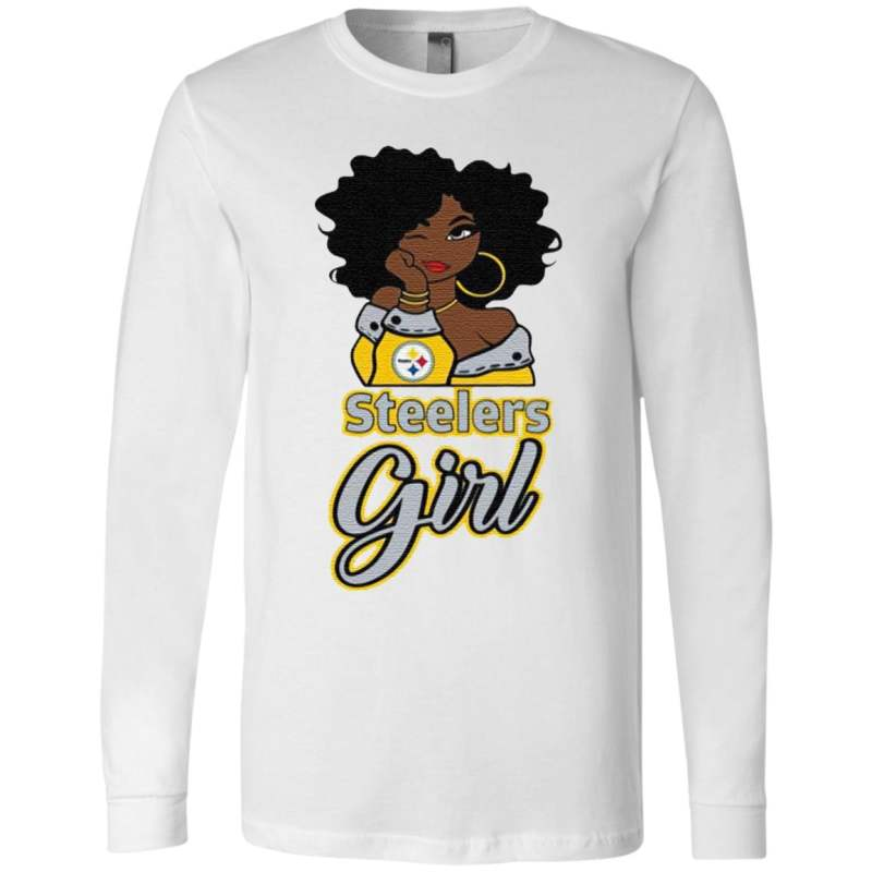 Black Girl Pittsburgh Steelers T Shirt
