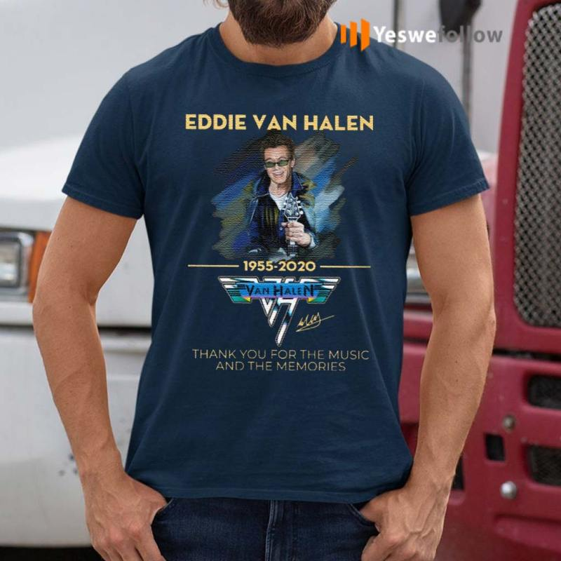 Eddie-Van-Halen-Thank-You-For-The-Memories-1955-2020-Shirts
