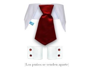 corbata para perros con puños y gemelos