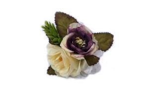 Adorno de flores artificiales para perros pequeños