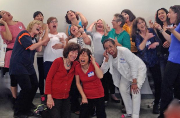 laughter yoga telephone exercise
