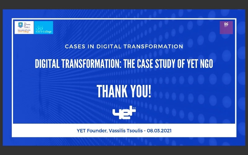 YET Digital Transformation guest lecture