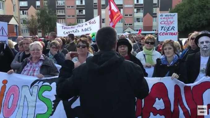 Ruffin manifeste à Abbeville le 12 septembre 2017