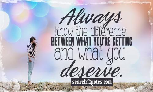 Take What You Deserve