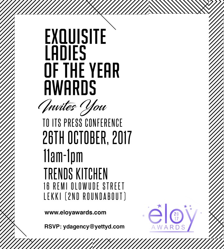 INVITATION TOELOYAWARDS 2017 PRESS CONFERENCE