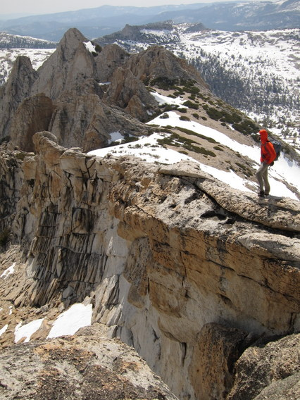 Gabe Mange Descends the Echo Peaks, Yosemite National Park