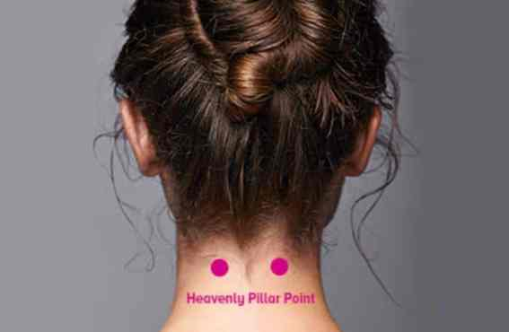 Pressure Points For Headache Relief: Heaven Pillar