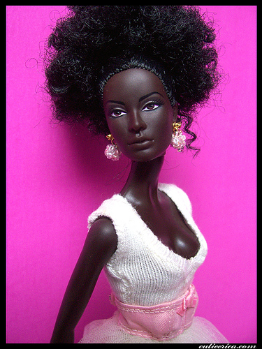 A TRULY BLACK SKINNED BEAUTY DOLL AT LAST!