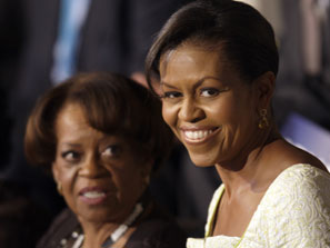 BLACK SKINNED BEAUTIES BOTH-MICHELLE OBAMA AND HER MOTHER MARIAN ROBINSON