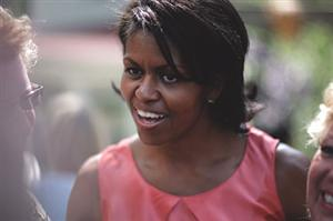 MICHELLE OBAMA IS A BLACK SKINNED BEAUTY!