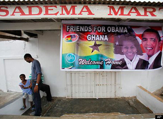 """""""WELCOME HOME""""GREETS YOU WHEN YOU GO BACK TO AFRICA FOR A VISIT LIKE OBAMA!"""