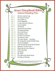 Jesus Storybook Bible Reading Plan - Advent