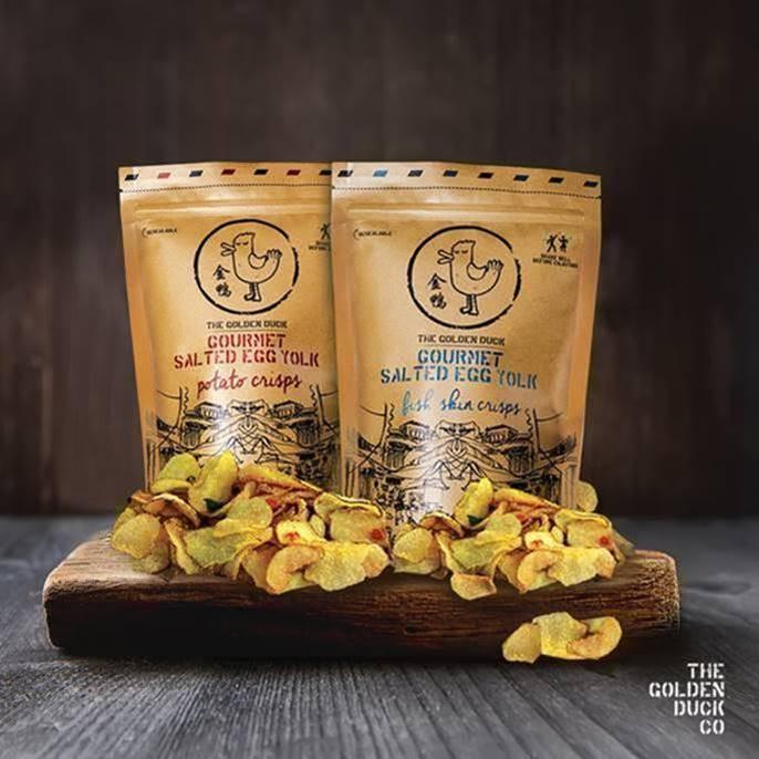 【飲食資訊】新加坡超人氣鹹蛋零食「金鴨手工鹹蛋薯片及手工鹹蛋魚皮」, 香港市面有售!