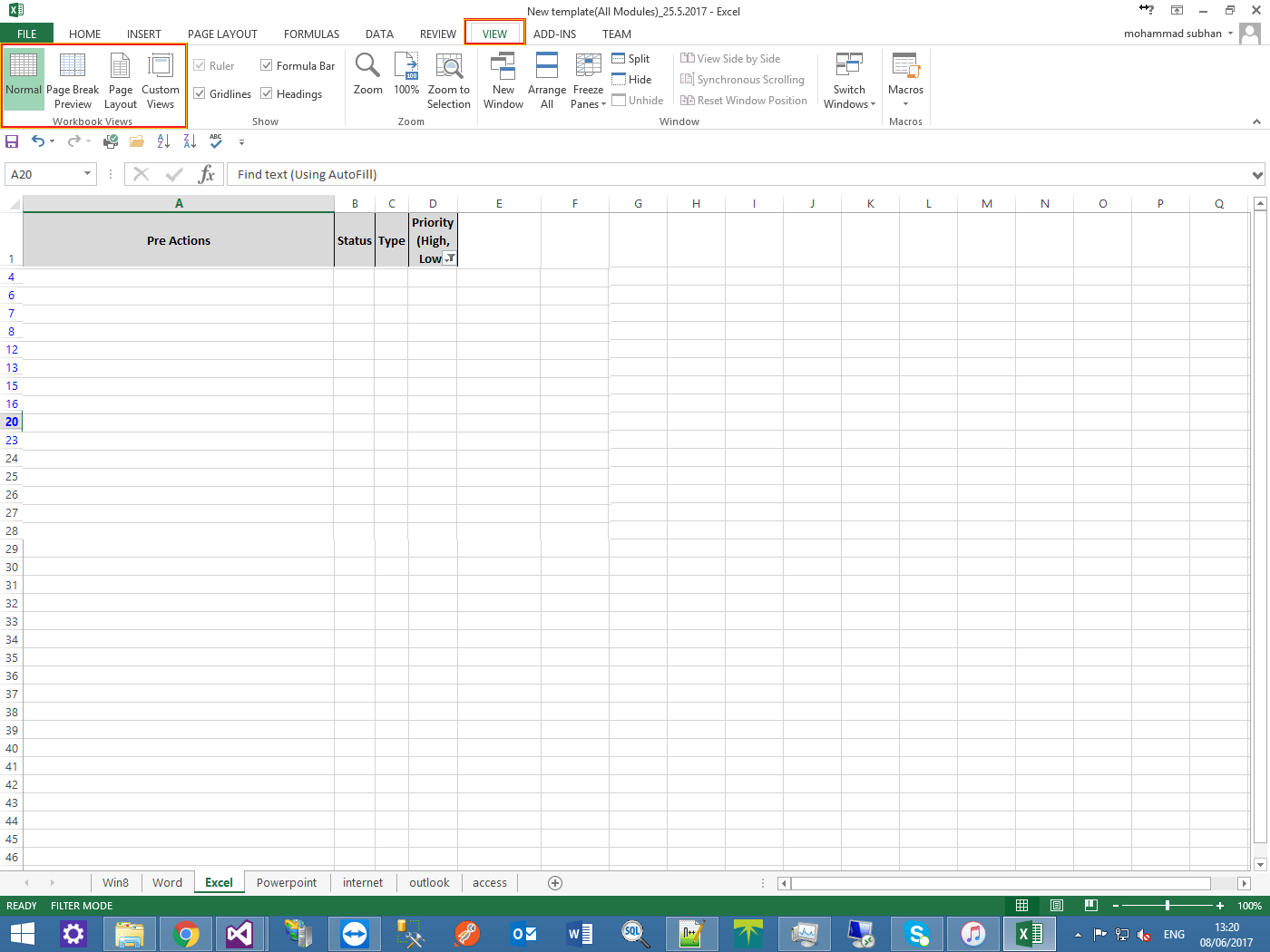 How To Change View Type In Excel Using Interop C