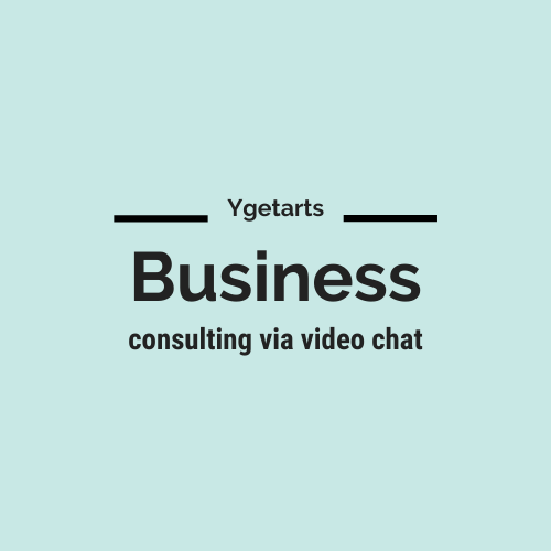 Business consulting services via video chat