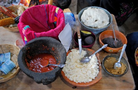 Taco times at a village near St Cristobal