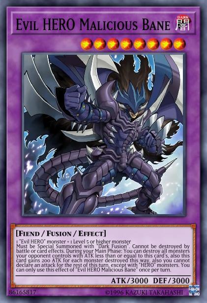 Evil HERO Malicious Bane - Card Information | Yu-Gi-Oh! Database