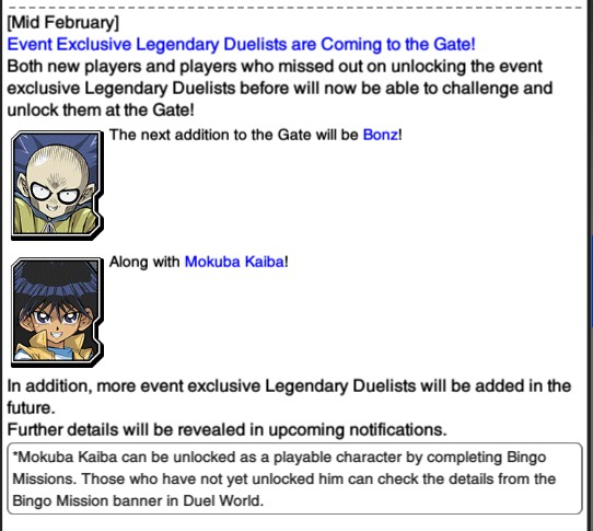 The Organization | [Duel Links] February 2018 Update News