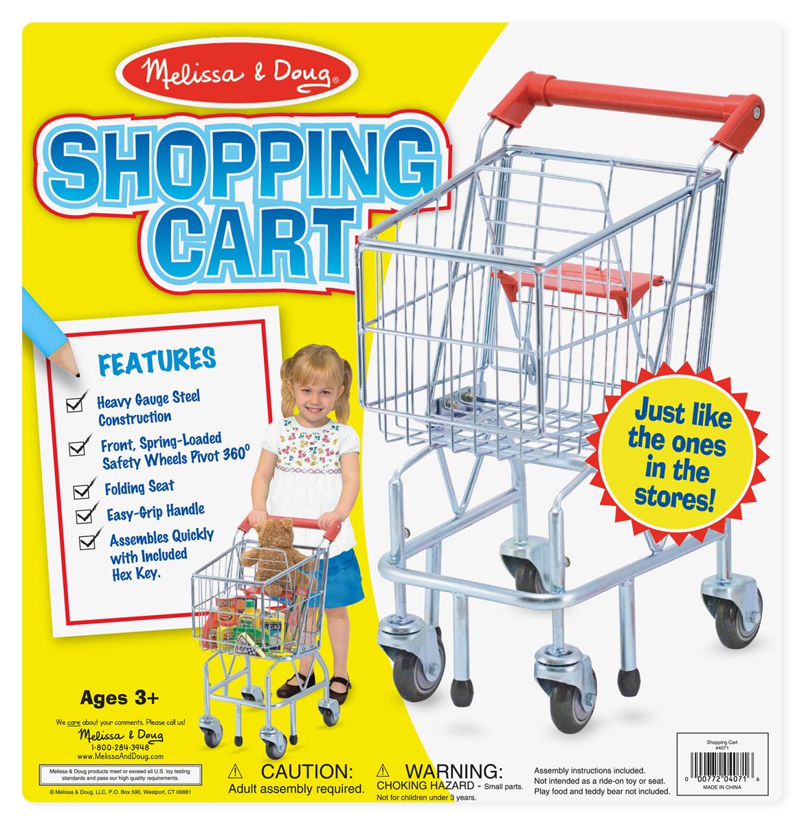 Shopping Cart Toy Metal Grocery Wagon
