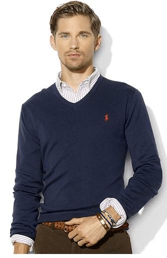 Lightweight V-neck Sweater, $69.99
