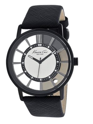 Transparent Watch With Textured Strap, $115.00