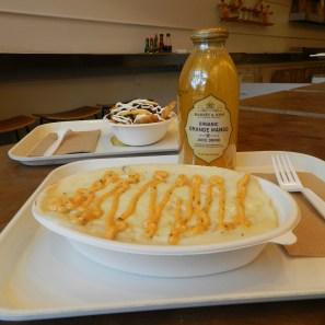 Yegide's customized Cajun shrimp and mashed potato bowl.