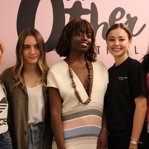Amber Asaly, photographer and host; Olivia Perez, Editor-in-Chief of Friend of a Friend; Poku, Eileen Kelly, writer; and Dounia Tazi, model and writer