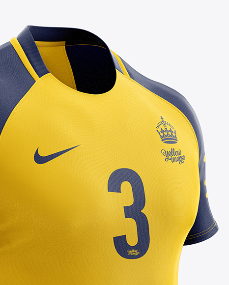 Download Men's Rugby Jersey Mockup - Half Side View in Apparel ...