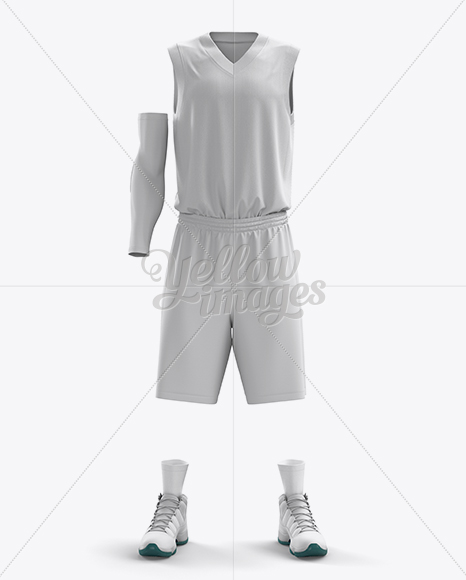 Download Basketball Kit W V Neck Tank Top Mockup Half Turned View Yellow Images