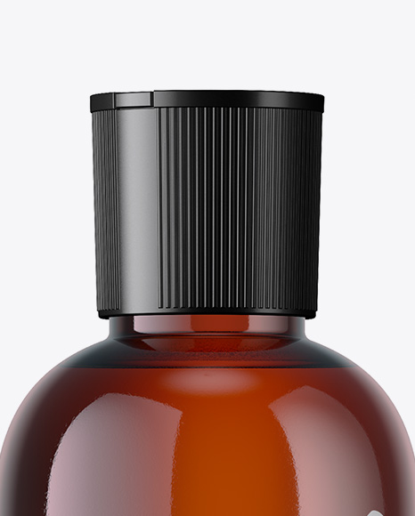 Download 250ml Amber Pet Bottle Psd Mockup Yellowimages