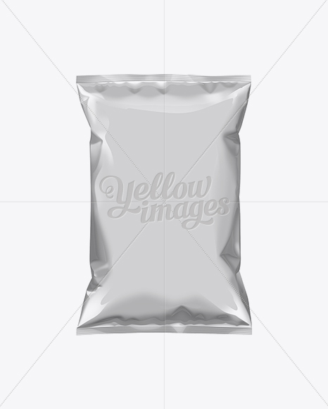 Download Free Foil Food Snack Packaging Mockup Yellow Images