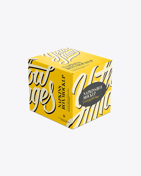 Download Tissue Box Mockup - Front 3/4 View (High-Angle Shot) in ...