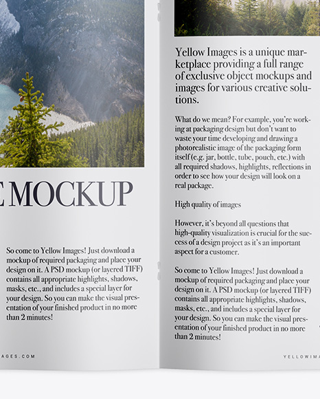 Download Free Magazine Mockup Psd Download Yellowimages