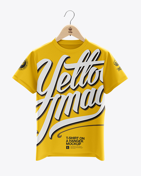 Download T Shirt Mockup Hanger Psd Yellow Images