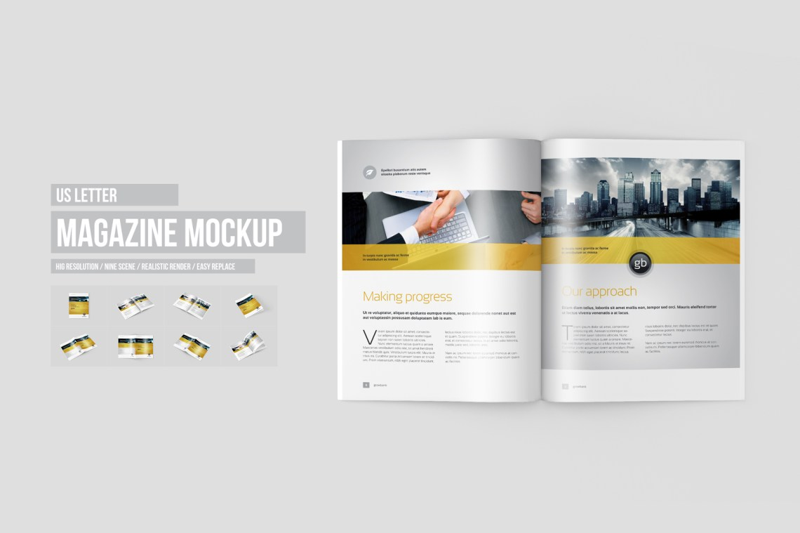 Download Square Brochure Mockup Free Yellowimages