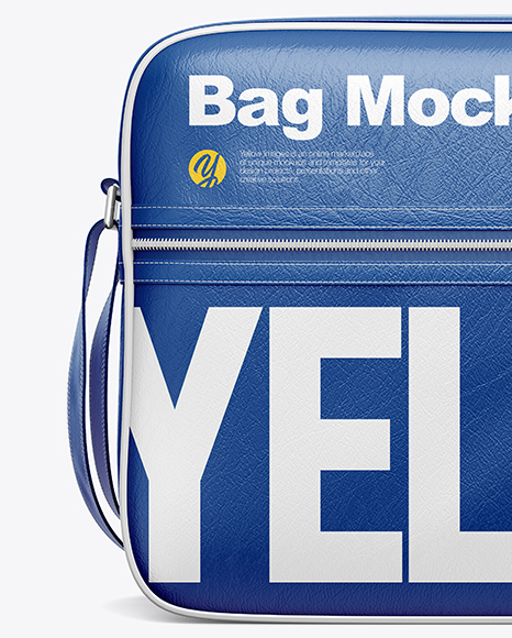 You can update the colors, add your own logo, patterns or any other design elements to the leather back for a smart, trendy looking mockup. Shoulder Bag Mockup Front View In Apparel Mockups On Yellow Images Object Mockups