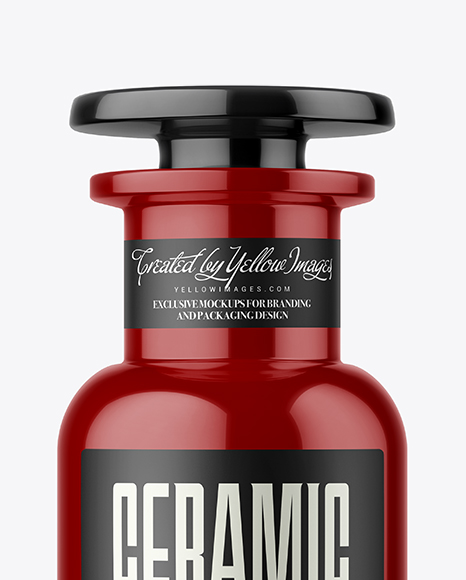 Download Glossy Ceramic Bottle With Wax Psd Mockup Yellowimages
