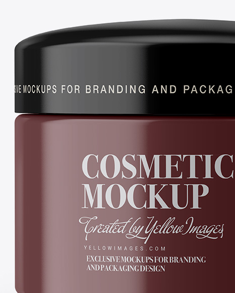 Download Cosmetic Jar Mockup Psd Free Download Yellow Images
