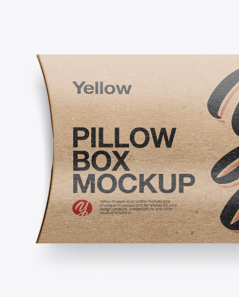 Download Two Textured Paper Pillow Boxes Psd Mockup Yellowimages