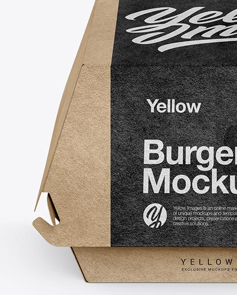 Download Burger Box Mockup Free Yellowimages
