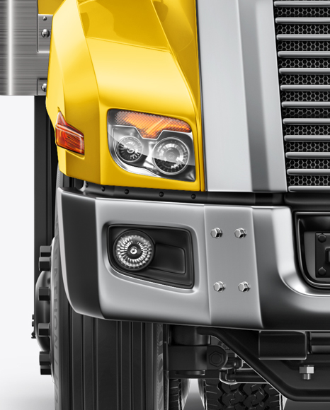 Download Box Truck Mockup Yellowimages