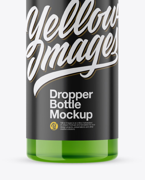 Download 30ml Glossy Dropper Bottle Psd Mockup Yellow Images