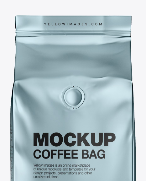 Download Glossy Metallic Coffee Bag Psd Mockup Yellow Images