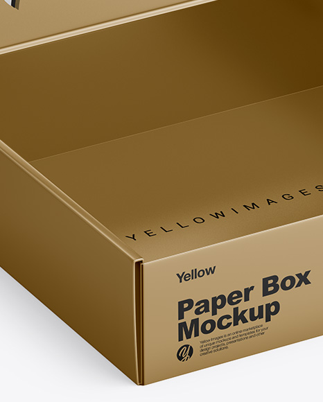 Download Kraft White Wine Bottles Box Psd Mockup Half Side View Yellowimages